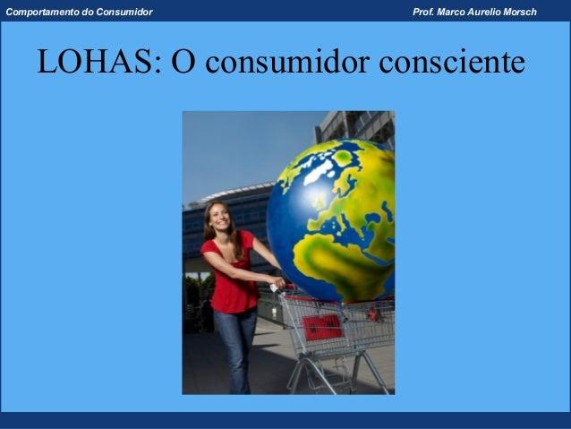 Comportamento do Consumidor   Prof. Marco Aurelio Morsch     LOHAS: O consumidor consciente