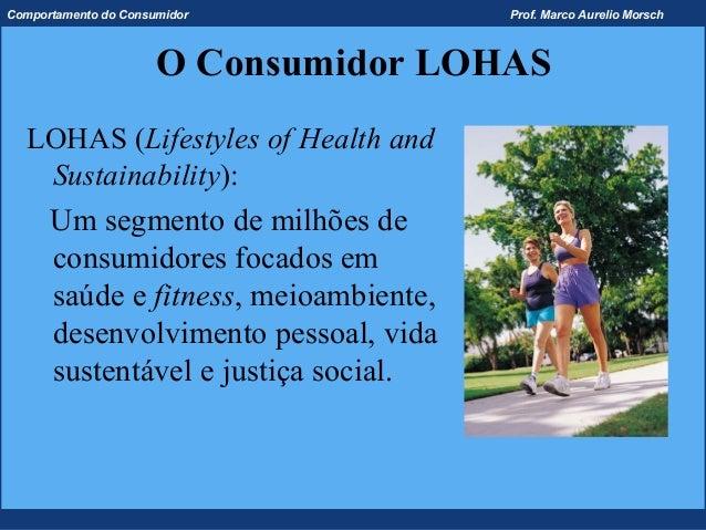 Comportamento do Consumidor           Prof. Marco Aurelio Morsch                      O Consumidor LOHAS  LOHAS (Lifestyle...