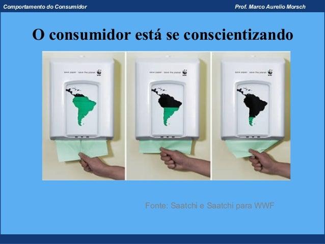 Comportamento do Consumidor                         Prof. Marco Aurelio Morsch         O consumidor está se conscientizand...
