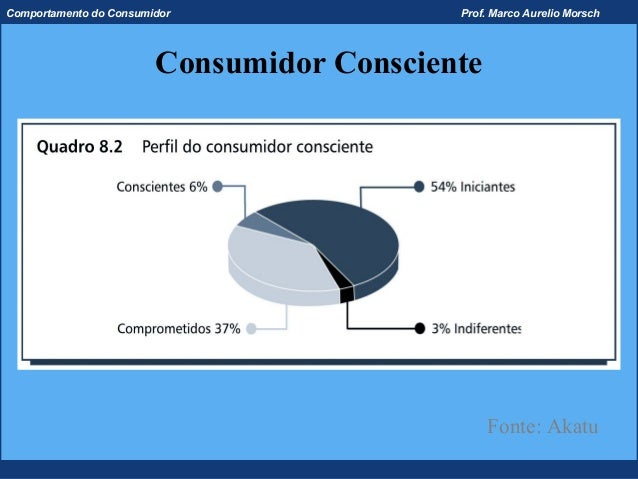 Comportamento do Consumidor                Prof. Marco Aurelio Morsch                        Consumidor Consciente        ...