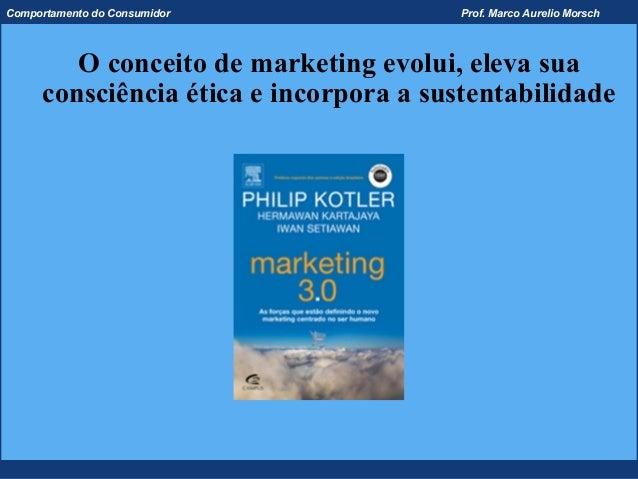Comportamento do Consumidor             Prof. Marco Aurelio Morsch        O conceito de marketing evolui, eleva sua     co...
