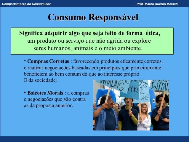 Comportamento do Consumidor                                    Prof. Marco Aurelio Morsch                         Consumo ...