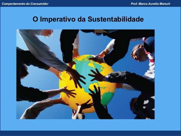 Comportamento do Consumidor                  Prof. Marco Aurelio Morsch                 O Imperativo da Sustentabilidade