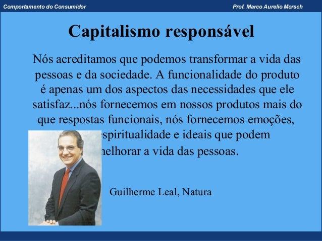 Comportamento do Consumidor                            Prof. Marco Aurelio Morsch                     Capitalismo responsá...