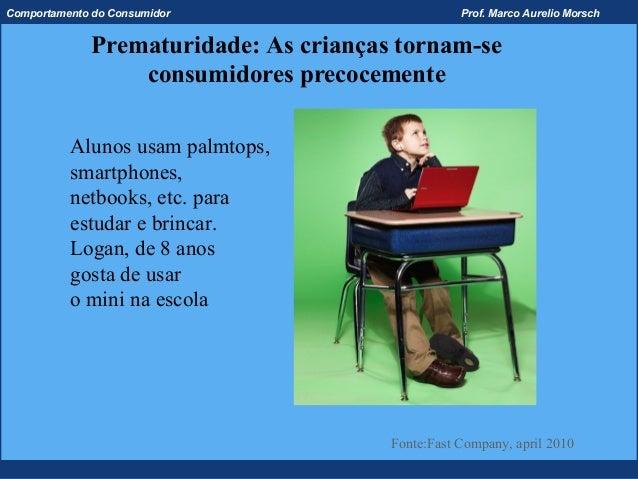 Comportamento do Consumidor                       Prof. Marco Aurelio Morsch             Prematuridade: As crianças tornam...