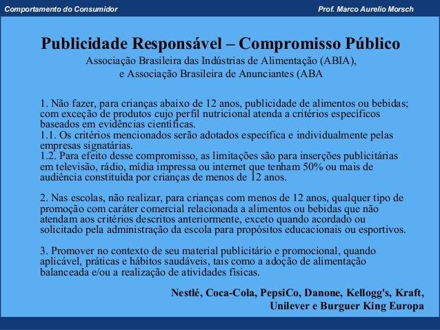 Comportamento do Consumidor                                           Prof. Marco Aurelio Morsch        Publicidade Respon...