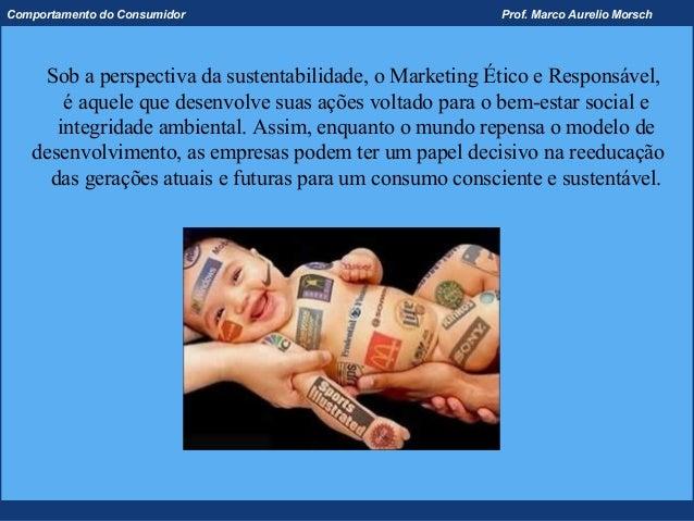 Comportamento do Consumidor                              Prof. Marco Aurelio Morsch    Sob a perspectiva da sustentabilida...