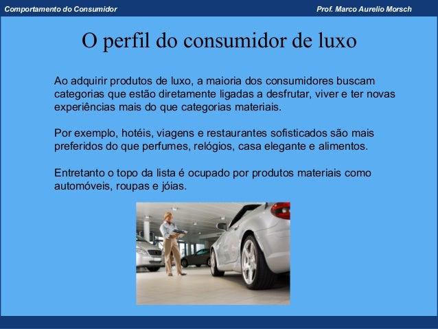 Comportamento do Consumidor                                       Prof. Marco Aurelio Morsch                  O perfil do ...