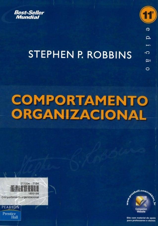 Comportamento organizacional    stephen p. robbins (livro)