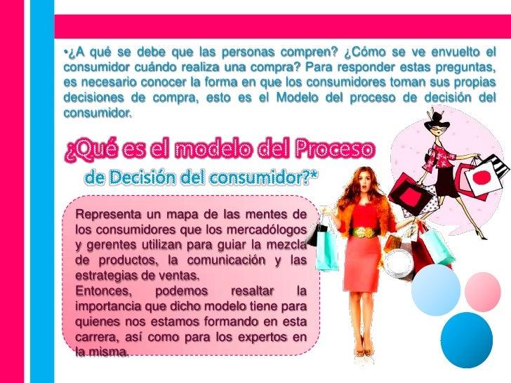 proceso de decisin del consumidor essay La toma de decisiones del consumidor se encuentra bajo la influencia de distintos factores que van apareciendo dentro de un proceso antes de escoger un producto o servicio.
