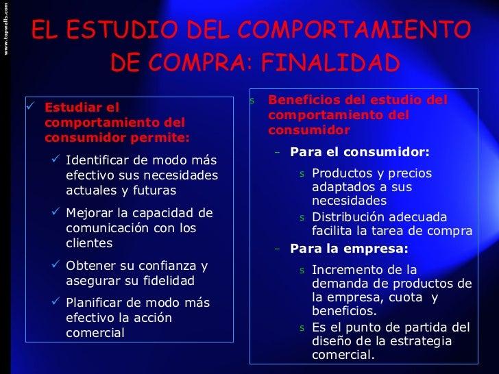 estudio del comportamiento del consumidor pdf