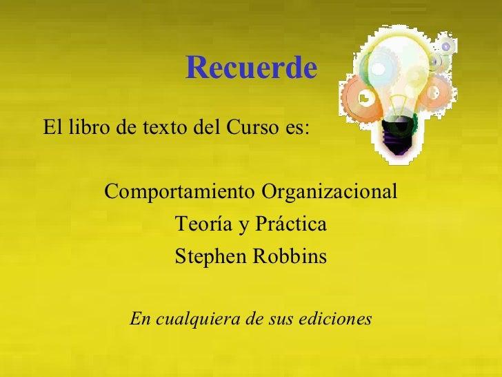 Comportamiento Organizacional Slide 2