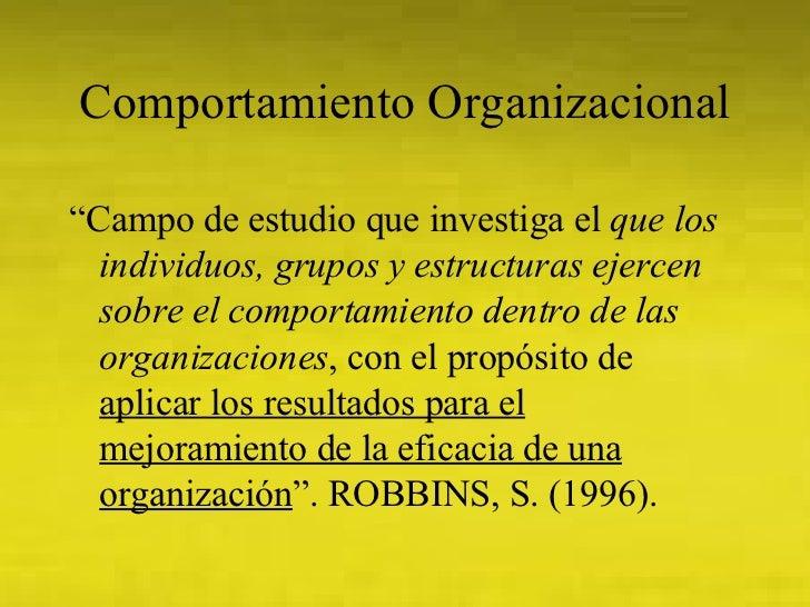 Comportamiento Organizacional Slide 3