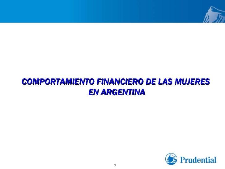 COMPORTAMIENTO FINANCIERO DE LAS MUJERES  EN ARGENTINA