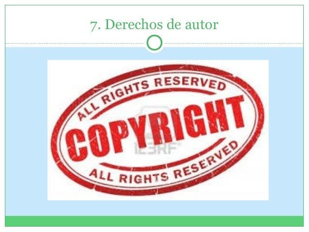 7. Derechos de autor