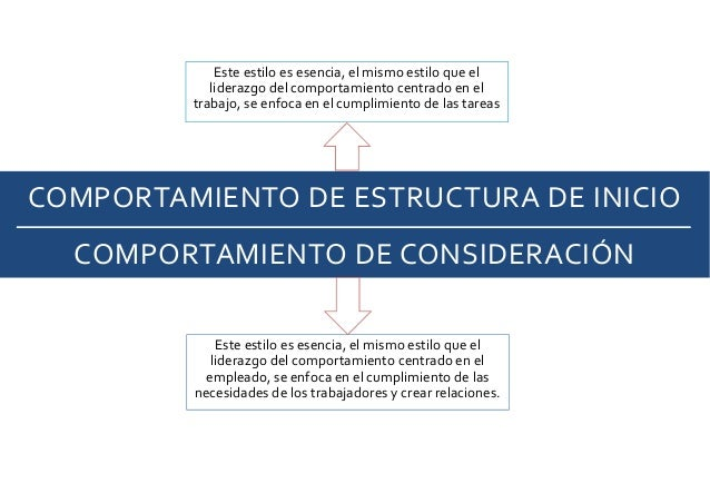 COMPORTAMIENTO DE ESTRUCTURA DE INICIO COMPORTAMIENTO DE CONSIDERACIÓN Este estilo es esencia, el mismo estilo que el lide...