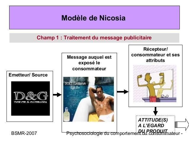 Modèle de Nicosia           Champ 1 : Traitement du message publicitaire                                                  ...
