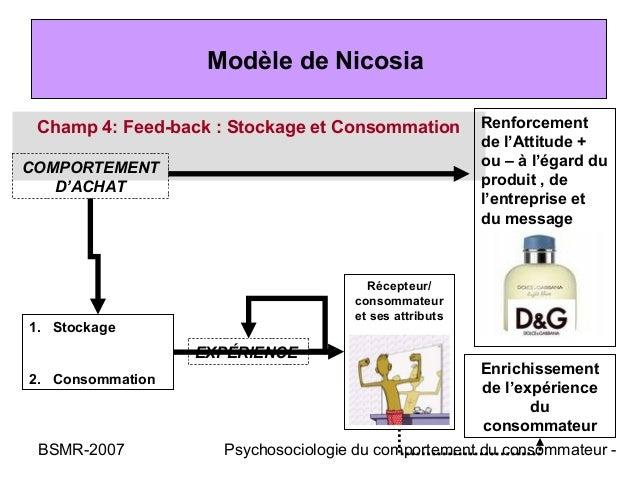Modèle de Nicosia Champ 4: Feed-back : Stockage et Consommation         Renforcement                                      ...