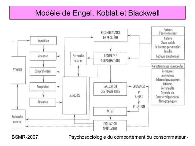 Modèle de Engel, Koblat et BlackwellBSMR-2007       Psychosociologie du comportement du consommateur -