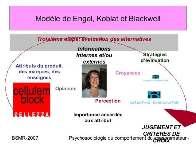 Modèle de Engel, Koblat et Blackwell          Troisième étape: évaluation des alternatives                             Inf...