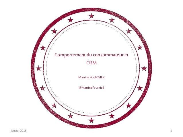Comportementduconsommateuret CRM MartineFOURNIER @MartineFournie8 janvier 2018 1