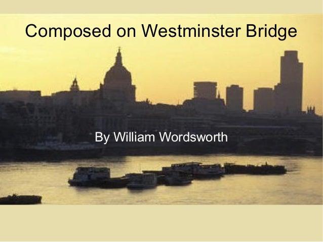 upon westminster bridge by william wordsworth essay