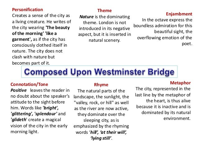 upon westminster bridge analysis
