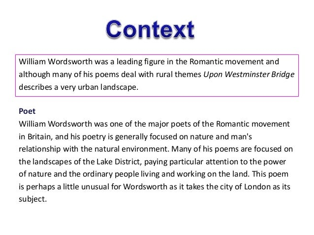 Composed Upon Westminsterbridge
