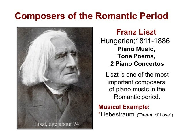 music of romantic period Characteristics of the classical period cont  music of the romantic era - music of the romantic era aspects of romanticism in music & art aspects of romanticism.