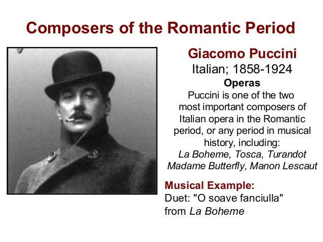 Composers Of The Romantic Period