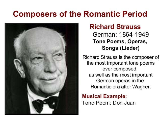 the composers of the romantic era How were the ideals of romanticism evident in the lives and works of composers  of the romantic era ideals being expressed fascination with exotic lands.