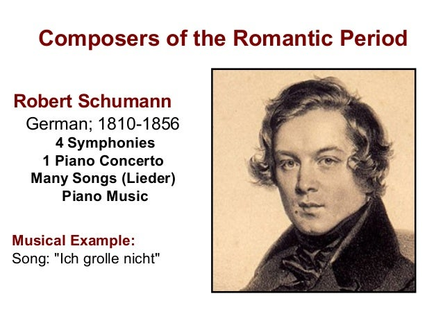 romantic composers Composers such as bizet, berlioz and debussy were at their most creative and  productive during the romantic era it is interesting to.