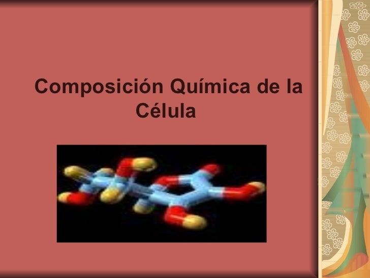 Composición Química de la Célula
