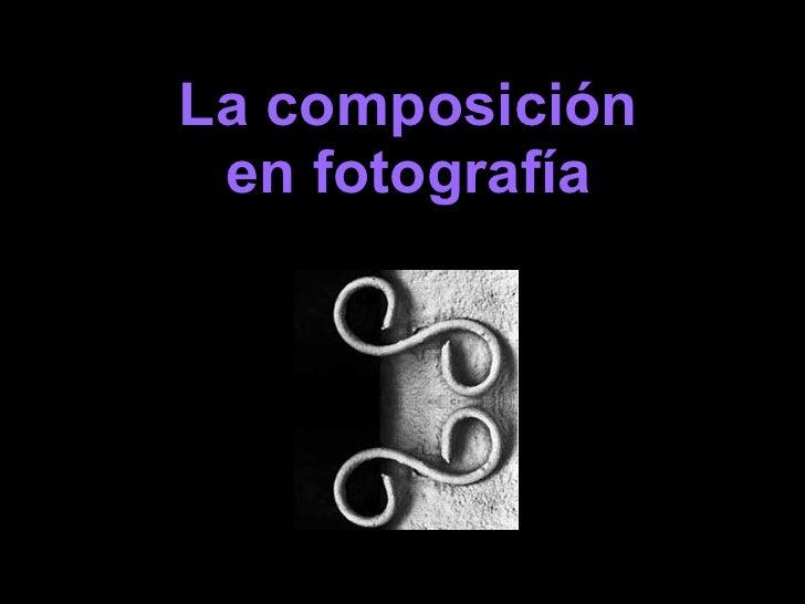 La composición en fotografía