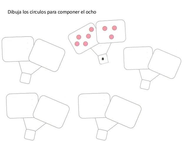 Dibuja los círculos para componer el ocho