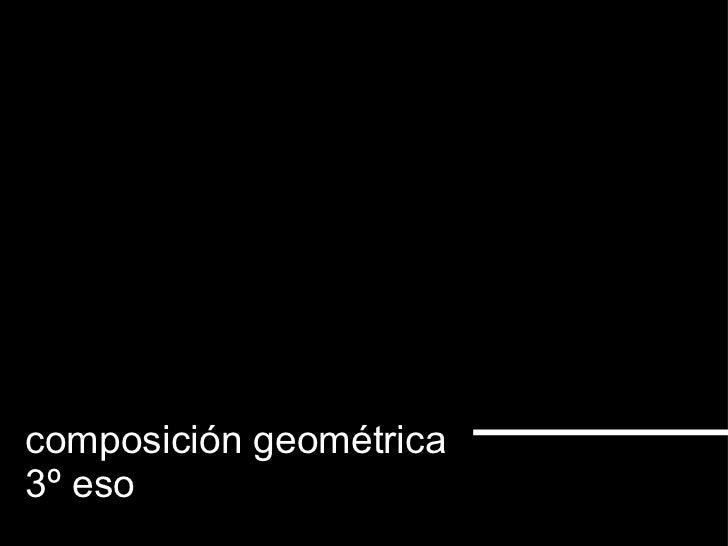 composición geométrica 3º eso