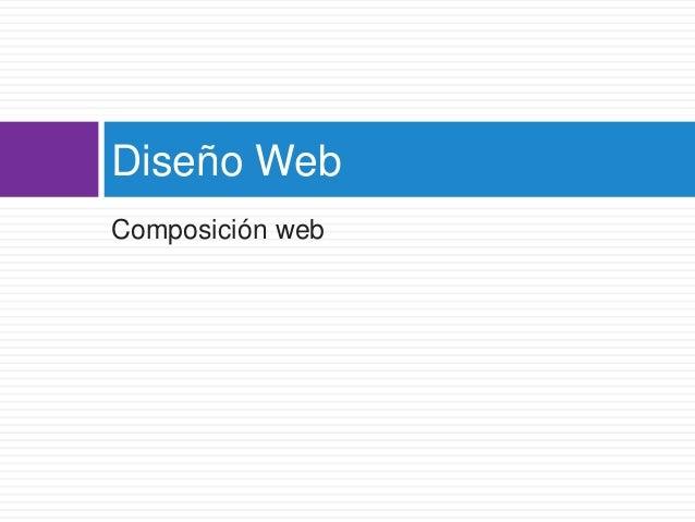 Composición web Diseño Web
