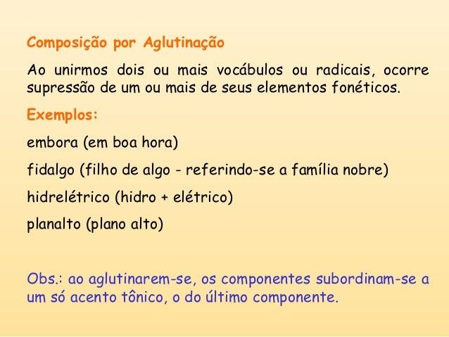 Palavras composição por aglutinação