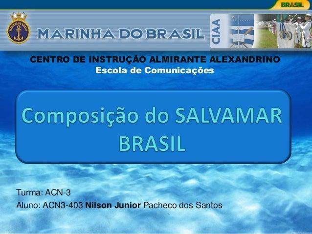 CENTRO DE INSTRUÇÃO ALMIRANTE ALEXANDRINO              Escola de ComunicaçõesTurma: ACN-3Aluno: ACN3-403 Nilson Junior Pac...