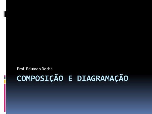 COMPOSIÇÃO E DIAGRAMAÇÃO Prof. Eduardo Rocha