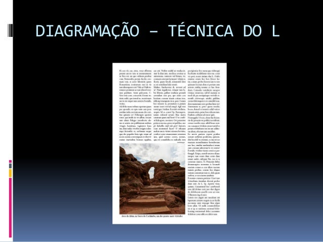 DIAGRAMAÇÃO – TÉCNICA DO L
