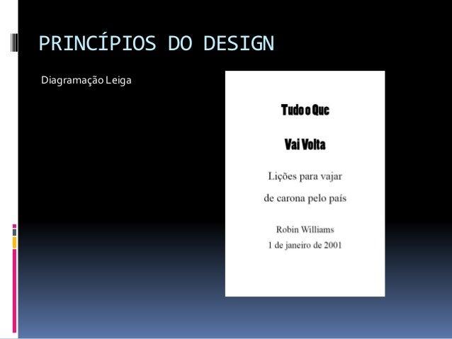 PRINCÍPIOS DO DESIGN Diagramação Leiga