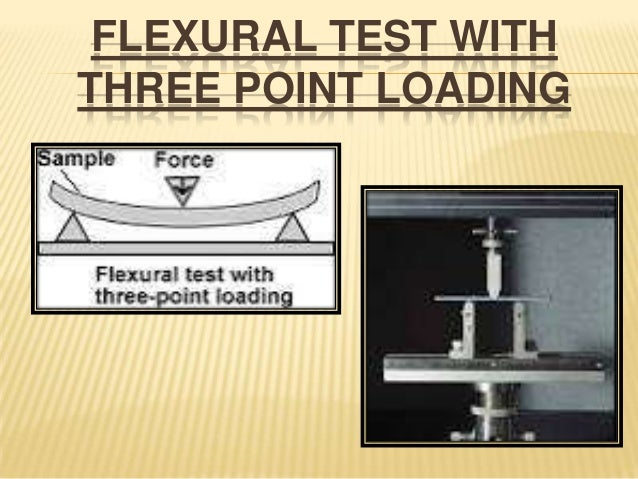 FLEXURAL TEST WITH THREE POINT LOADING