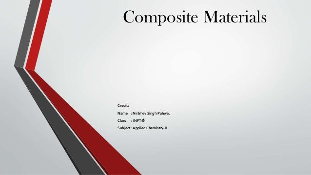 Composite Materials  Credit: Name : Nirbhey Singh Pahwa. Class  : INFT-3  Subject : Applied Chemistry-II