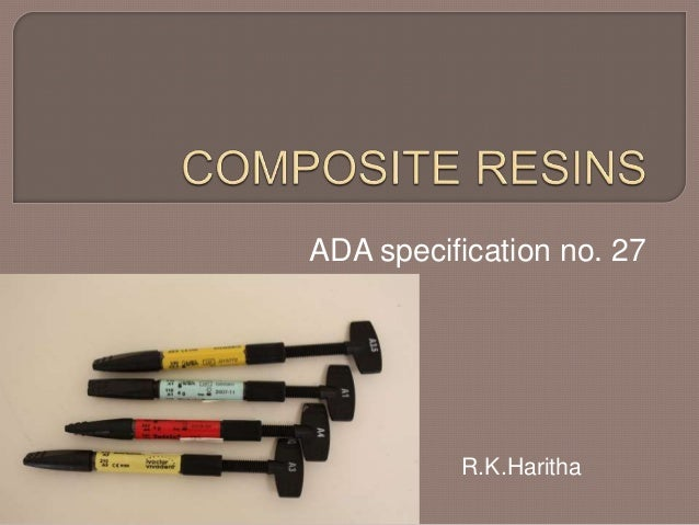 ADA specification no. 27 R.K.Haritha