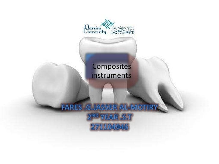 Composites instruments