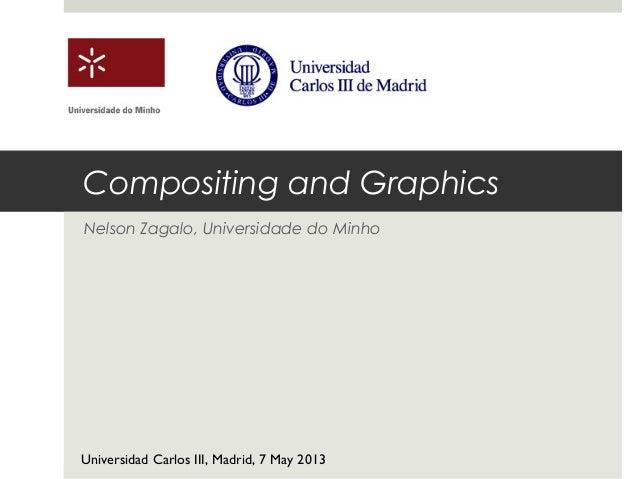 Compositing and GraphicsNelson Zagalo, Universidade do MinhoUniversidad Carlos III, Madrid, 7 May 2013