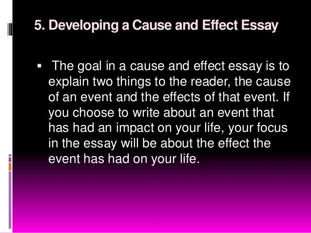 Nine patterns of essay development
