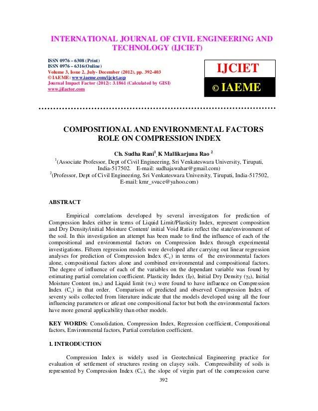 International Journal of CivilJOURNAL OF CIVIL (IJCIET), ISSN 0976 – AND INTERNATIONAL Engineering and Technology ENGINEER...