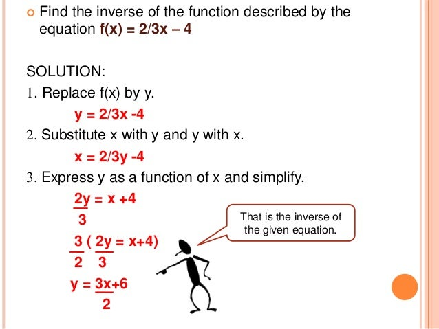 composition and inverse functions On inverse functions composition of functions suppose the rule of function f(x) is and the rule of function g(x) is suppose now that you want to leapfrog the.